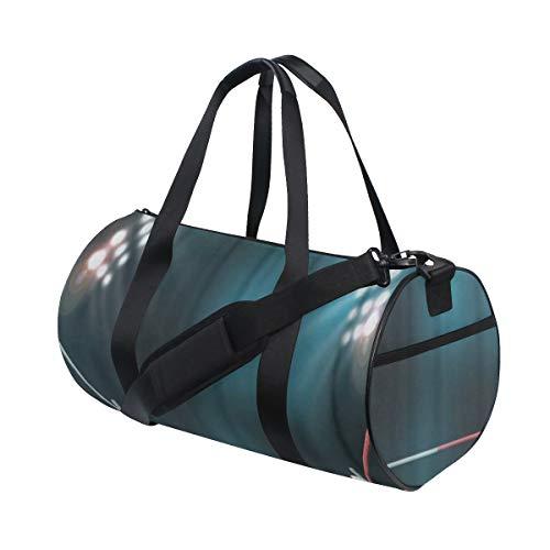 HARXISE Boxring mit Beleuchtung durch Scheinwerfer Digital-Effekt 3D,Reisegepäcktasche Sport Leichte Segeltuch Fitness Gepäcktrommel Handtasche Abnehmbar