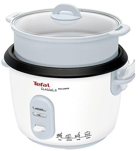 Tefal RK101 1.8L, Reiskocher mit Dampfgareinsatz, 700W Weiß