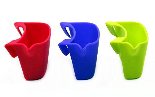 Metaltex Teebeutelablage 3er-Set, Silikon, Cherry/Bamboo/Orchid, 4 x 7.5 x 4.5 cm, 3-Einheiten