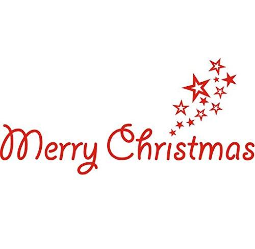 Joyeux Noël Amovible en Vinyle Maison Art Mur Stickers Autocollants pour fenêtres
