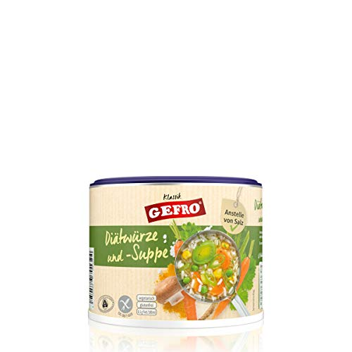 GEFRO Diätwürze, vegetarische Brühe mit Kaliumchlorid statt Salz als Salzersatz (250g)