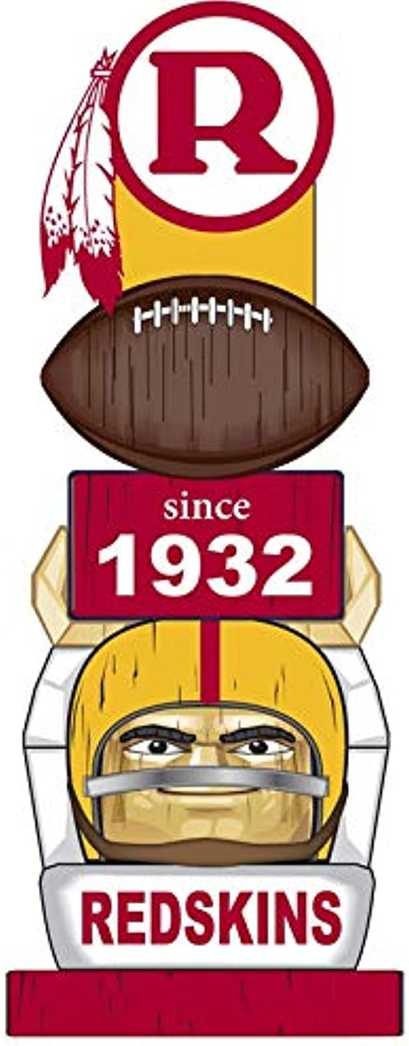 Team Sports America Officially Licensed Indoor Outdoor Washington Redskins Vintage Garden Tiki Totem for  1 Fans