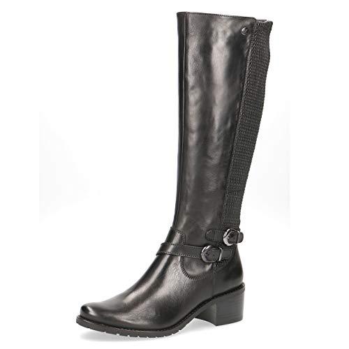 CAPRICE Premium Damen Stiefel 25515-23, Frauen KlassischeStiefel, reißverschluss Dame-n Frauen weiblich-e Lady Ladies,Black Nappa,6 UK / 39 EU