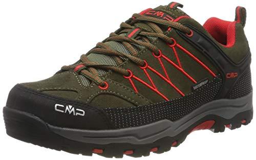 CMP Kids Rigel Low Shoes Wp Trekking- & Wanderhalbschuhe, Grün (Loden-Ferrari 05fd), 39 EU