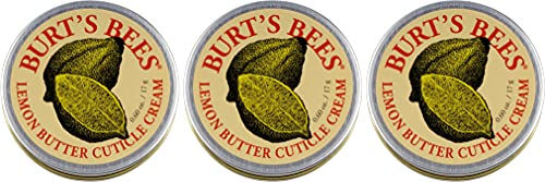 Burt's Bees 100% Natural Lemon Butter Cuticle Cream, 0.6 Ounce, Pack of 3