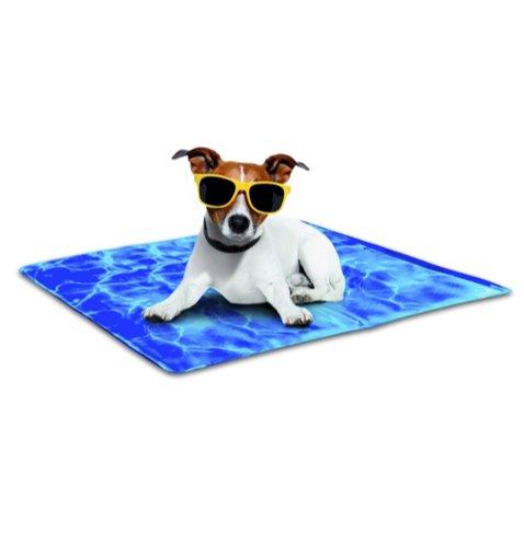 Chill Out - Always Cool Kühlmatte für Hunde M-L blau Hundekühlmatte High-Tech Kühlmatte-Kühlung ohne Kühlschrank-