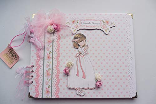 Libro de firmas primera comunion niña, recuerdos, fotos. Scrapbooking, scrap, scrapbook, comunión, fotos, álbum de firmas - Hecho a mano, niña16