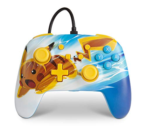 Verbesserter kabelgebundener PowerA-Controller für Nintendo Switch – Pikachu Charge, Gamepad, kabelgebundener Videospiel-Controller, Gaming-Controller