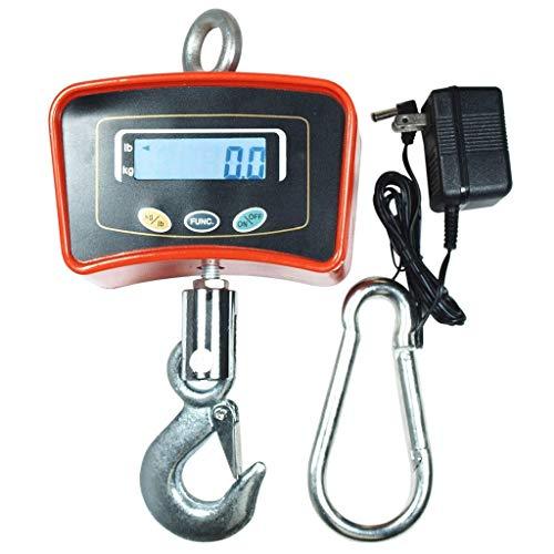 ZCXBHD 1000 kg elektronische kraanweegschaal hanghaken draadloze 1 T Control digitaal display rood draagbaar gezondheidspakket oranje