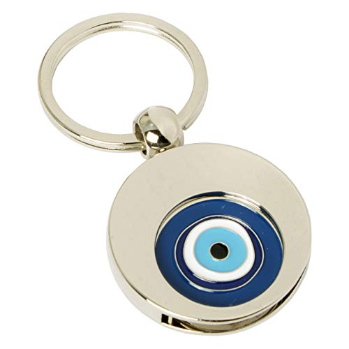 Schlüsselanhänger 'Eye' mit Einkaufswagenchip türkisches Auge von Jadani