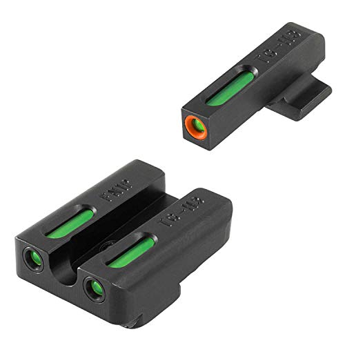 TRUGLO TFX Pro Tritium and Fiber Optic Xtreme Handgun Sights for FN Pistols, FNH FNP-40, FNX-40 and FNS-40, Black, One Size