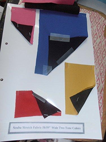 Tela de neopreno de dos tonos, tela de sándwich de capa de aire para Clothin de 58 pulgadas de ancho, moda, buceo, impresión por The Yard