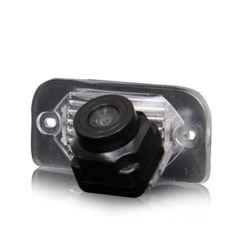 Auto Rückfahrkamera verbesserte Einparkhilfe mit 8IR Nachtsicht 170° Weitwinkel Wasserdicht Hoche Defination (schwarz) für Mercedes Benz C W203 E W211 CLS Klasse W219 CLK W209