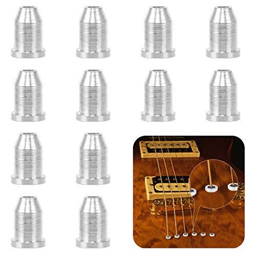12 piezas Guitarra a través de férulas de Cuerda para guitarra eléctrica, casquillos para cuerdas de guitarra