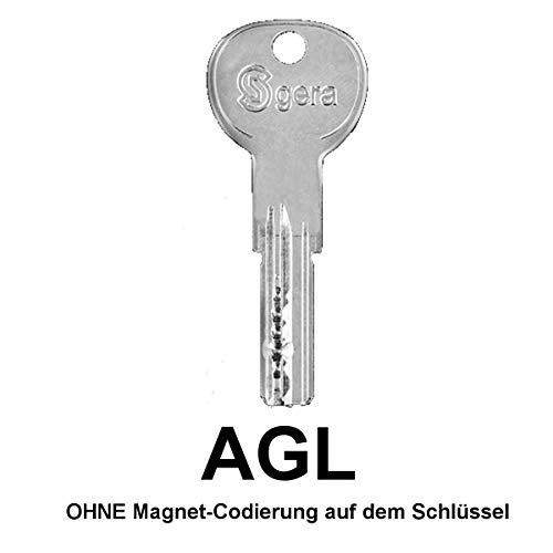 GERA ISR6 Ersatzschlüssel, Zusatzschlüssel, Nachschlüssel - Schlüssel für GERA ISR6 Zylinder - alle AGL Schließungen - AGL000001 bis AGL015328 - nachträglicher Schlüssel nach Code/Schließung