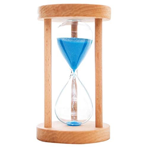 Perfeclan 6/8/12/20/25 Minuten Sanduhr Sandglass Eieruhr Sand Timer mit Holzrahmen Wohnkultur, Farben auswählbar - Blau, 25min