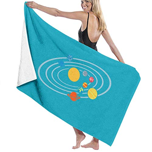 Hangdachang Solar System Planets 1 Microfiber Bath Towels Quick Dry Super Absorbent Towel for Yoga