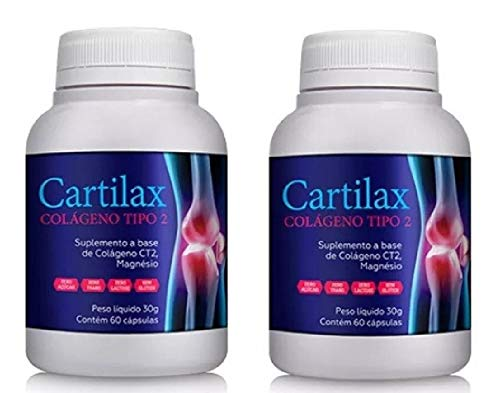 KIT 2 CARTILAX UC2 ORIGINAL Colágeno Tipo 2 Articulações