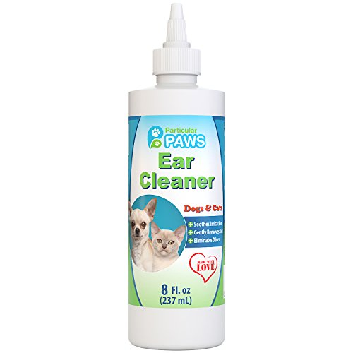 Particular Paws Ear Cleaner for Dogs and Cats with Aloe Vera, Tea Tree Oil & Vitamin E - 8oz