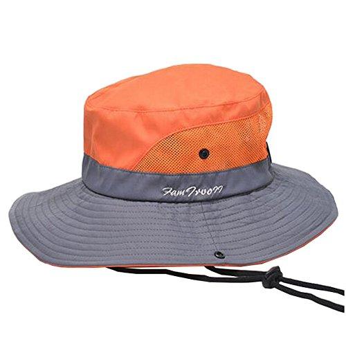 Alien Storehouse [Orange] Fold-up Flap Sun Hat Multi-Fonctionnel Cap Outdoor Research Hat