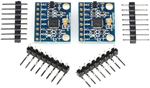 MPU – 6050 Módulo, de 3 Ejes giroscopio y de 3 Ejes de aceleración de Accelerometer/Sensor/Sensor de inclinación, I2 C, por Ejemplo, para Arduino, Genuino, Raspberry Pi, 2
