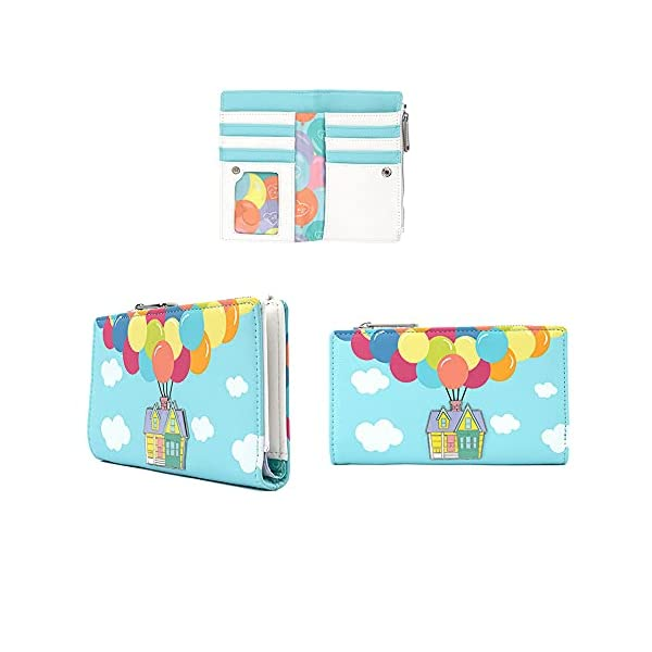 Loungefly Disney UP Balloon House Faux Leather Flap Wallet