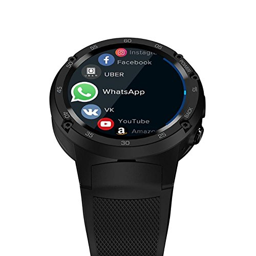 "Zeblaze Thor 4 Reloj Inteligente, SmartWatch 1.39"" 580mAh 4G LTE 1GB + 16GB GPS, rastreadores de fitness, rastreadores de sueño, Monitor de Ritmo cardíaco, táctil, Español Android/ iOS Negro Anna-neek"