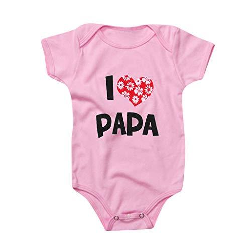 Babykleidung, Super Papa, Valentinstag, bedruckt, Kurzarm, Baby, Mädchen, Strampler Gr. S , B-Rosa
