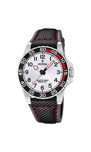Festina Jungen Analog Quarz Uhr mit Leder Armband F20460/1