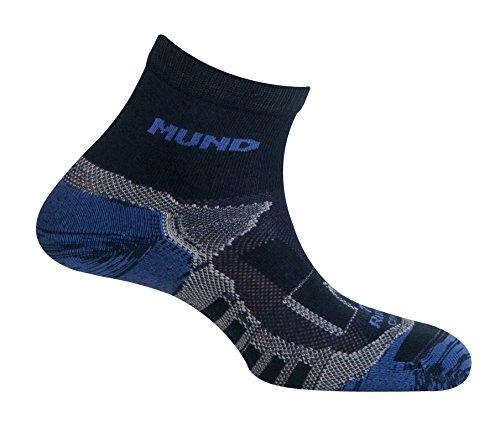 Mund Socks Calcetín Running Trail Running Atletismo Unisex (Navy, EU 42-45)
