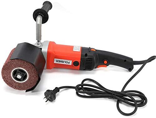 1400 W - Amoladora de ángulo, herramienta eléctrica de pulidor, rodillo abrasivo pulido con cubierta de protección
