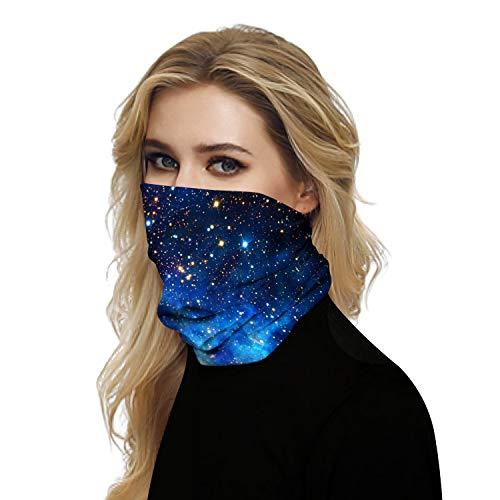 Doriley Face Shield UV-Schutz Bandana, Schlauchschal Multifunktionstuch Sommer Atmungsakt Dünn Motorrad Joggen Mundschutz Halstuch für Damen und Herren Unisex