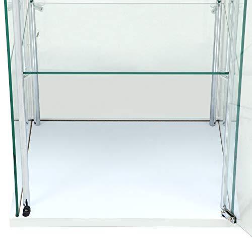 不二貿易コレクションケースフィギュアケース4段高さ120cmホワイト全面ガラスロータイプ97341