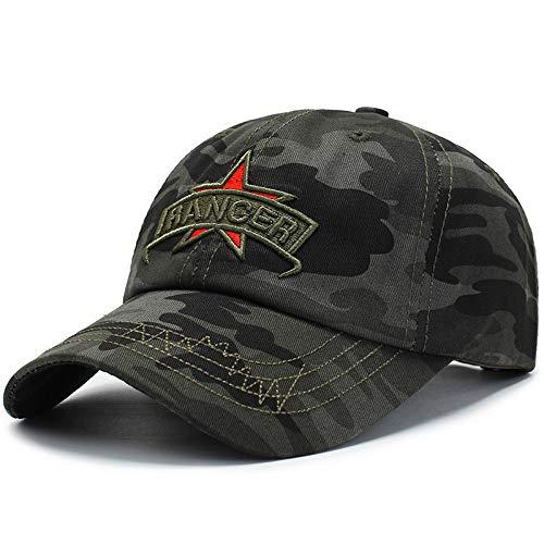 KFEK Frühling und Sommer Tarnung Männer und Frauen Hut im Freien militärische Ausbildung Sonnencreme Schirmmütze Stickerei Baseball Cap F2 einstellbar
