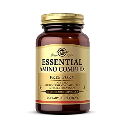 Solgar Essential Amino Complex, 60 Vegetable Capsules - Free Form Essential Amino Acids - Non-GMO, Vegan, Gluten Free, Dairy Free, Kosher - 60 Servings