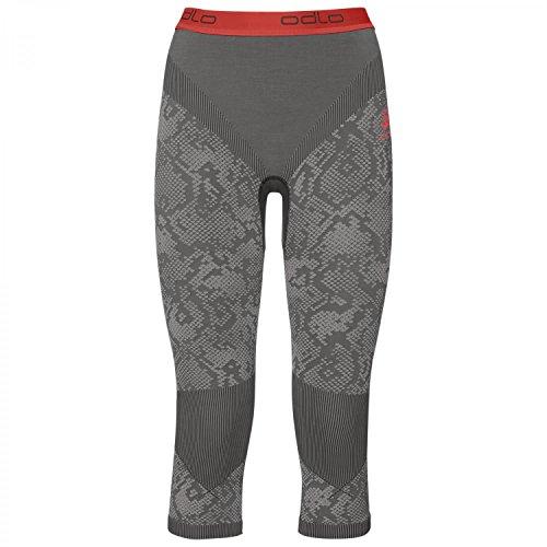 Odlo Blackcomb Evolution Warm Pants 3/4 Women - Black Concrete Grey/hot Coral
