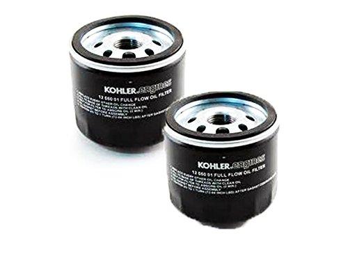 Kohler (2 Pack) 12 050 01-S1 Engine Oil Filter For CV17 - CV26 And CH17 - CH26