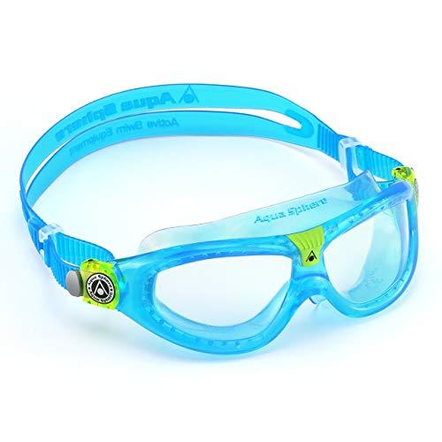 Aqua Sphere Seal Kid 2 Lunettes de Natation Mixte Enfants, Masque, Bleu (Aqua/Clear Lens), Taille unique
