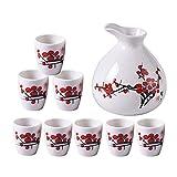 Taza de Sake Japonés, Juego de vinos de vidrio de cristal de cerámica de estilo japonés, licor de hogar, vidrio de vidrio, dispensador de vino, conjunto de vinos de vino, conjunto de vinos de cristal