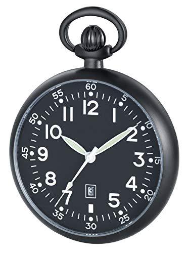 Jean Jacot C345716 - Reloj de bolsillo con diseño de aviador - Mecanismo de cuarzo -