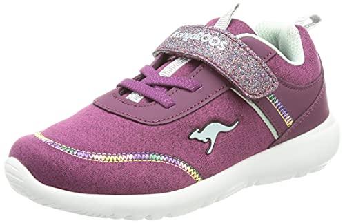 KangaROOS Jungen Unisex Kinder KY-Chummy EV Sneaker, dk Berry/Mint, 23 EU