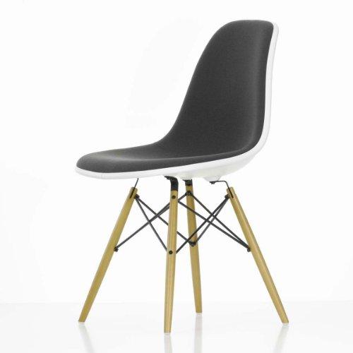 Vitra 44017300139200 Eames Plastic Side Chair DSW frame esdoorn basic dark 01 met zitkussen Hopsak grijs 92, 810 x 465 x 550 mm