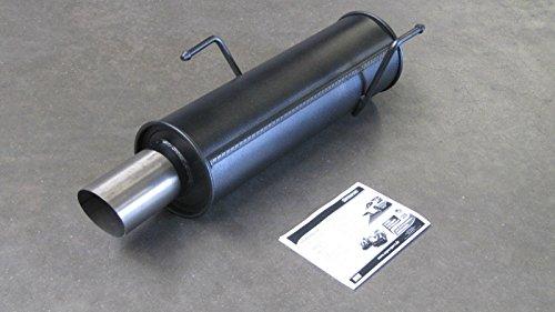 Tubo de Escape deportivo, Black Edition, con permiso de funcionamiento ABE/EG, 1 x 90 mm
