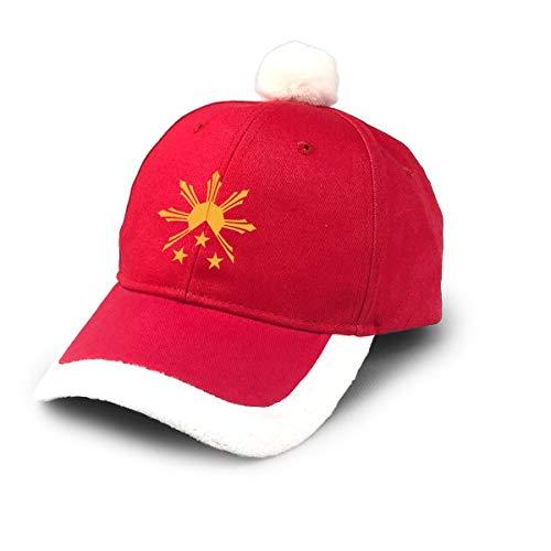Tribal Philippines Filipino Sun and Stars Flag Christmas Xmas Hat Cap Santa Cap Holiday Party Baseball Cap Red