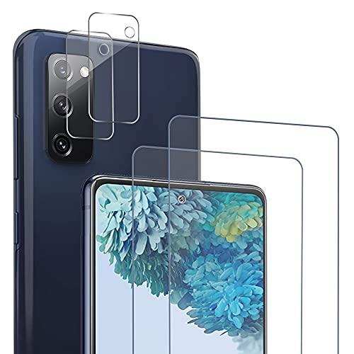 Zinking Panzerglas kompatibel mit Samsung Galaxy S20 FE, 2 Stück Schutzfolie+2 Stück Kamera Folie, 9H Härte, HD klar Panzerglasfolie Displayschutzfolie, [Einfache Montage], [Blasenfrei]