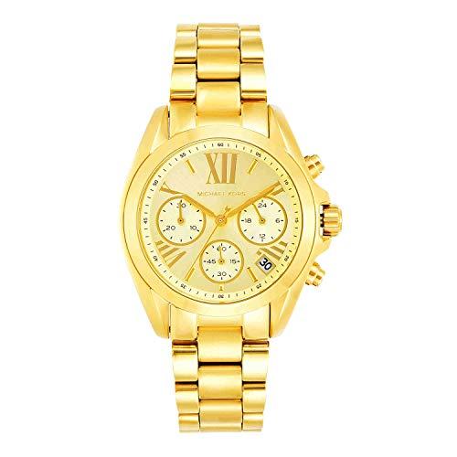 Relógio Michael Kors Mk5798 Bradshaw Dourado 38Mm