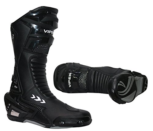 Viper 966S CE Sports Racing Boots Motocross Enduro MX Off Road avontuur vuil fiets quad BMX ATV motorfiets mountainbike laarzen (39/5-47/13, zwart) - zwart - 42/8