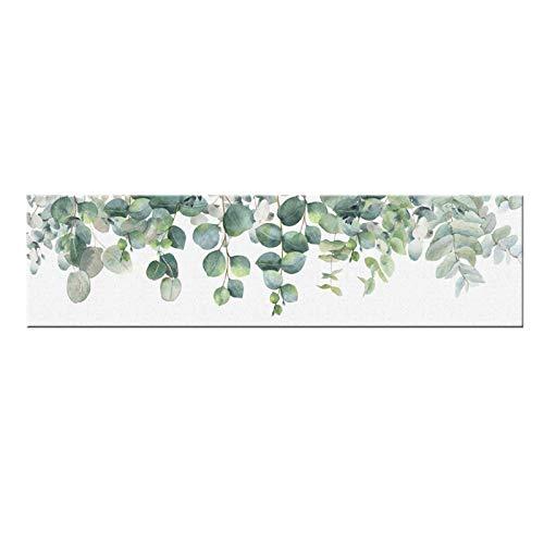 QWEAASD póster Cartel nórdico de Hoja de Planta, Arte de Pared de Naturaleza, Impresiones en Lienzo, Pintura, decoración, Cuadros, decoración del hogar, 50x150cmx1 sin Marco