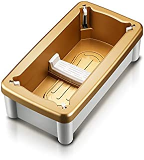 Automatic Shoe Cover Dispenser, Portable Shoes Cover Machine, Perfect for Home/Household, Shop, Office, and Lab,Gold