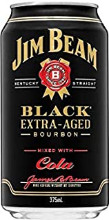 Jim Beam Black & Cola 375mL Can 375mL Case of 30